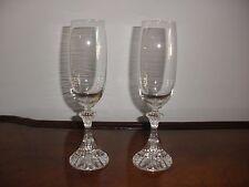 """Mikasa Elegant """"The Ritz"""" Fancy Stem Champagne Flutes/Glasses, Set of 2"""