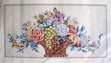 "Elsa Williams / Michael LeClair ""Harvest Basket"" Needlepoint Kit Fruit & Flowers"
