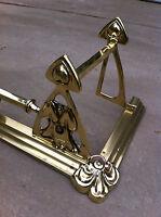 """Antique Original Art Nouveau Brass 48"""" Fireplace Fender Hearth Fire Guard(PK012)"""