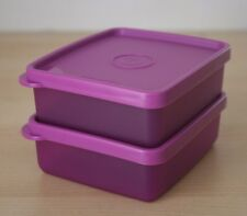 Tupperware Set 2 Mini Square Away 3/4 Cup  New