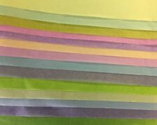 Luxury SATIN wrapping Tissue Paper,14 Asstd pastel colours, 90x61cm, (14 Sheets)