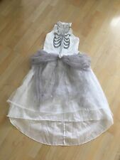 Girls Halloween DEAD BRIDE Fancy Dress Costume Age 9-10 Years Outfit