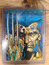 1992 Wolverine Trading Cards in Topload Card Holder #19 Claws
