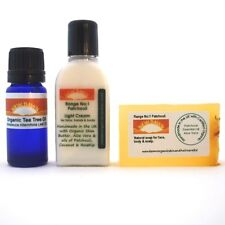 ACNE & SCAR removal - Organic Soap, Cream & Oil Sample Pack for Spots & Scarring