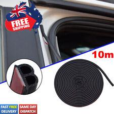 Universal 10m B-Shape Rubber Car Trunk Seal Strip Door Edge Guard Weatherstrip