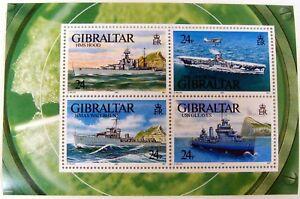 GIBRALTAR WARSHIP STAMPS SHEET OF 4 1993 MNH WORLD WAR II SHIP STAMPS HMS HOOD