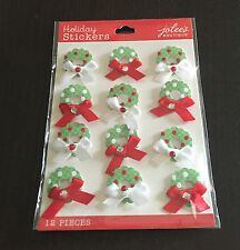 Christmas Wreaths Repeat Christmas Card Decorating Jolee's 3D Sticker