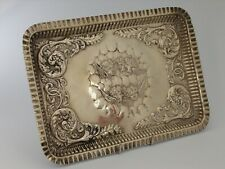 More details for silver plated reynolds angels repousse tray by britton gould and co