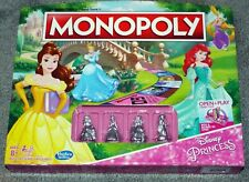Hasbro Monopoly Game Disney Princess Edition with Metal Figurines Rare NEW
