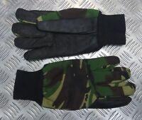 Genuine British Military Technician Mechanics Camo Gloves Leather Palm - NEW
