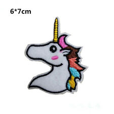 Unicorn Head Iron On Patch- Mystical Horse Animal Embroidered Applique Badge