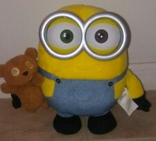 "MINIONS MOVIE Minion Bob 10"" Plush with Teddy Bear Lights Up/Talks"
