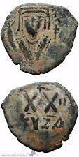 Byzantine Empire Phocas Ae Half Follis Coin Cyzicus Year 2 , 602-610 Ad