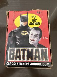 1989 Topps BATMAN Series 1 TRADING CARDS STICKERS GUM * FULL WAX BOX * 36 Packs