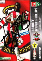 Southampton FC Bradley Wright-Phillips Hand Signed Championship 2008 Panini Card