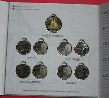 2012 HMS SHANNON «CANADIAN 2 DOLLARS» + 8 SPECIAL 25 CENTS : THE WAR OF 1812
