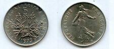 5  FRANCS  Semeuse Cupro-Nickel 1975