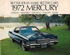 Mercury 1972 USA Market Sales Brochure Comet Cougar Montego Monterey Marquis