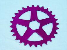 VINTAGE NOS PURPLE BMX FRONT CHAIN SPROCKET BIKE BICYCLE 28T