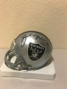 Zach Miller Signed Oakland Raiders Mini Helmet Upper Deck