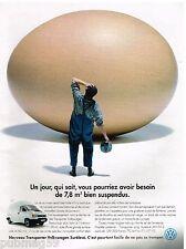 Publicité Advertising 1993 VW Volkswagen transporter camionette