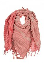 FRANSA bufanda pañuelo ryline Capa flecos rojo/rosa talla única / talla única