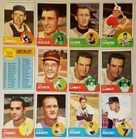 1963 TOPPS BASEBALL CARDS YOU U-PICK 10 PICKS EX CONDITION COMPLETE YOUR SET