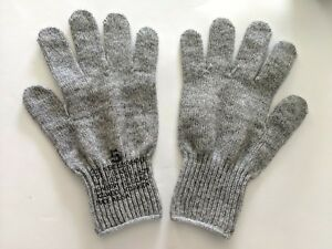 Military Cold Weather Army Wool Glove Mitten Liners Full Finger Made in USA