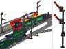 2 x Signal für Lego® Eisenbahn - Zug Train - 9V - 12V Bahnhof - RC Train Lok