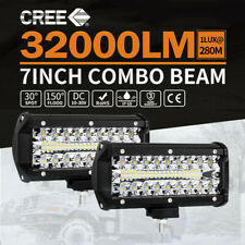 2X 7inch CREE LED Work Light Bar Spot Flood Work Driving Lights OffRoad 4WD AU
