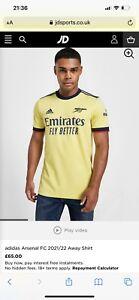 Arsenal Adidas 2021/22 Away Shirt XXL BNWT