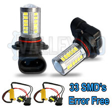 Vw Touareg 7p5 10-on brillante LED Luz de niebla Hb4 9006 31w 33 Smd Lente Blanco Bombillas