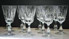 """EXTREMELY RARE-SENECA """"CUT SPIKES"""" PATTERN WINE/WATER GLASSES SET OF (11)"""
