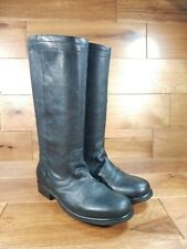 FIORENTINI+BAKER Black Leather Motorcycle Below Knee Boot Size US 9, 39 Italy