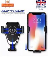 Qi Wireless Charger Car Phone Mount Holder Bracket For iPhone XR XS Samsung S9+