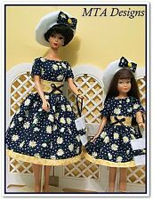 Dreaming Of Daisies~Matching Barbie & Skipper Dress Outfits~Handmade~Mta Designs