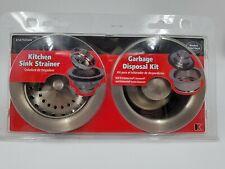 KEENEY K5475pc Kitchen Sink Strainer and Disposal Flange Set, professional grade