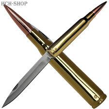 United Cutlery Taschenmesser Sammlermesser Patronenform polierte Messinghülse