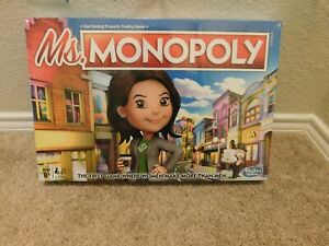 New in box Hasbro Gaming Ms. Monopoly board trading game