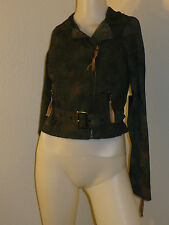 NEW CAMO GRAY OBEY BIKER BUCKLE ZIPPER BELT JACKET SWEATER STREET WEAR XXS XS