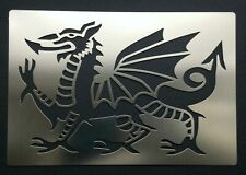 Welsh Dragon Stainless Steel Metal Stencil Template Pyrography 10.8cm x 7cm