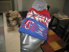 MITCHELL AND NESS LA LOS ANGELES CLIPPERS GEOTECH CUFFED KNIT POM BEANIE NBA NWT