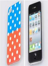 White Polka Dots Hard Slim Back Cover Case for iPhone 4 4G 4S