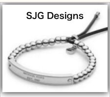 1x Beaded SILVER Plated  Inspired BRACLET With Faux Leather