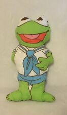 Jim Henson Kermit The Frog Vintage Pillow Sewn Stuffed Animal 80s Muppet Babies