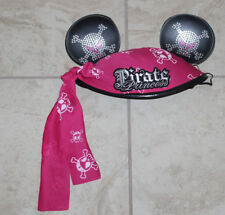 Disney Parks Mickey Mouse Hat Cap Pink/black Pirate Princess One Size