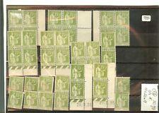 YVERT N° 284 x 40 timbres France type Paix neufs sans charnières cote €12