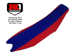 PK1 SEAT COVER BETA RR-RS YEAR 2013-2019 COLOR BLUE/RED WITH BLUE STRIPES