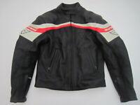 Mens 44 Dainese black leather padded motorcycle jacket