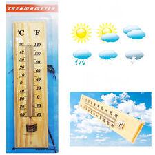 Termómetro Temperatura De Madera Colgante De Pared al Aire Libre Casa jardín sala Colgar C & F